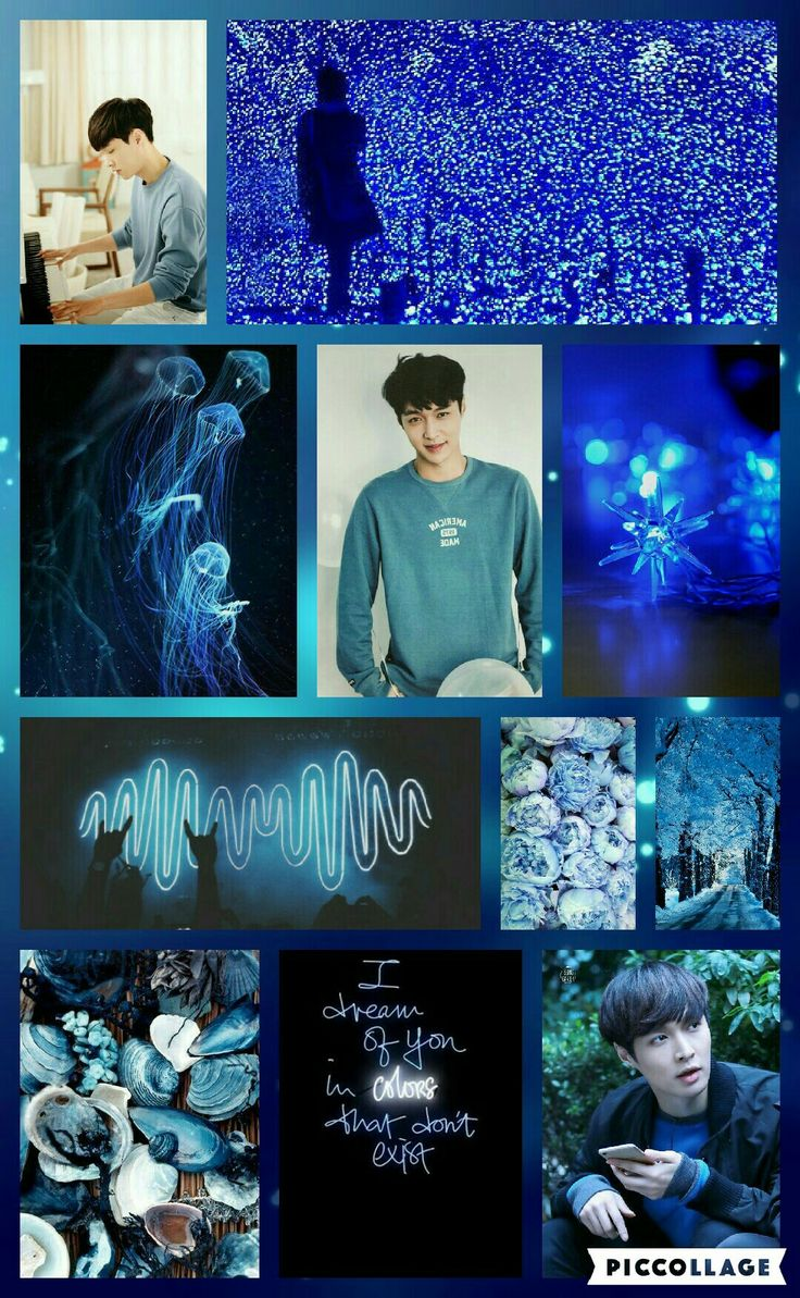 Exo Lay! Yixing blue MoodBoard