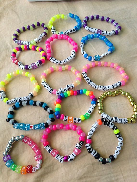 20 Kandi Rave Music Festival Bracelets Custom by EverythingPerf, $24.95