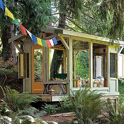 Airy backyard shelter