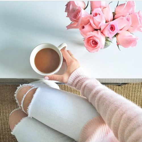 girly luxury | via Tumblr , Our greatest weakness lies in giving up. The most certain way to succeed is always to try just one more time. #flowers #outfit #shoes