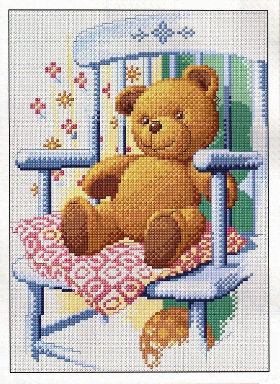 Cross Stitch Pattern ' Teddy Bear'