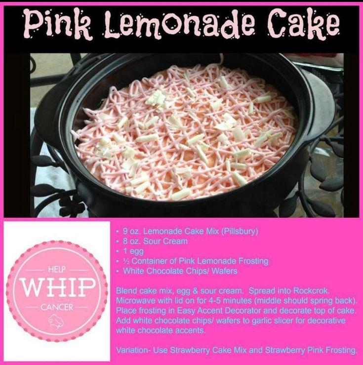 Pampered Chef Pink Lemonade Cake