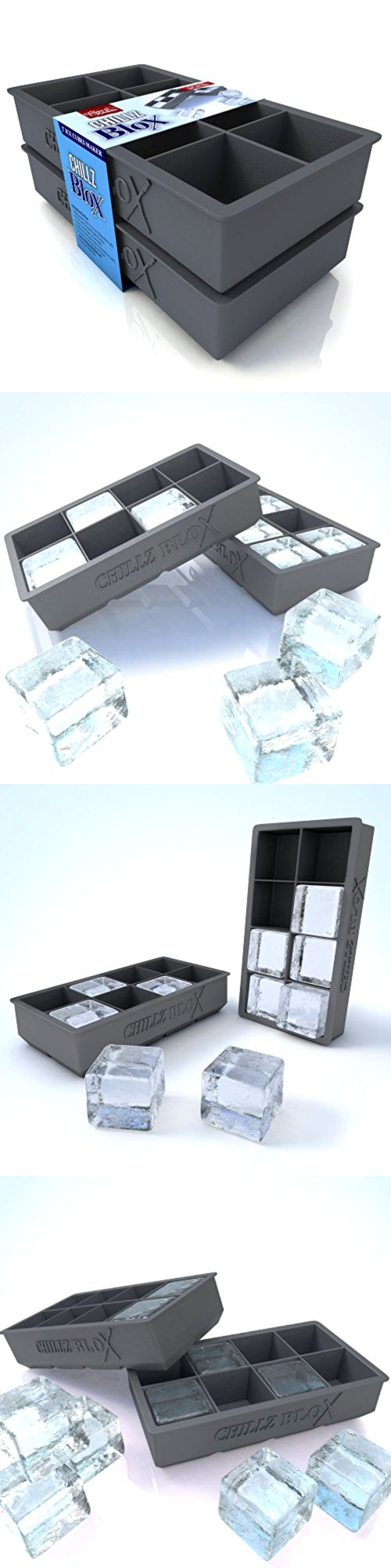 Ice Cube Trays and Molds 177015: Chillz Blox Large Ice Cube Tray For Whiskey - Silicone Ice Mold Maker - Molds 8 -> BUY IT NOW ONLY: $44.96 on eBay!