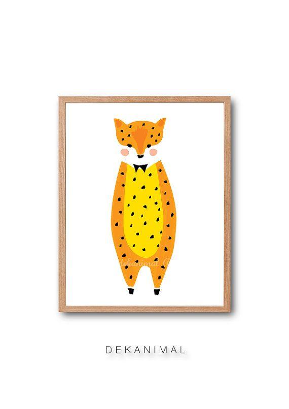 Baby-Leopard-Kunstdruck Baby Tier Illustration von dekanimal