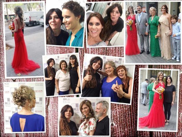 Una novia guapísima con un vestido rojo y peinado romántico. Gracias por confiar en nosotr@s!!! #blue01stylist #bodas