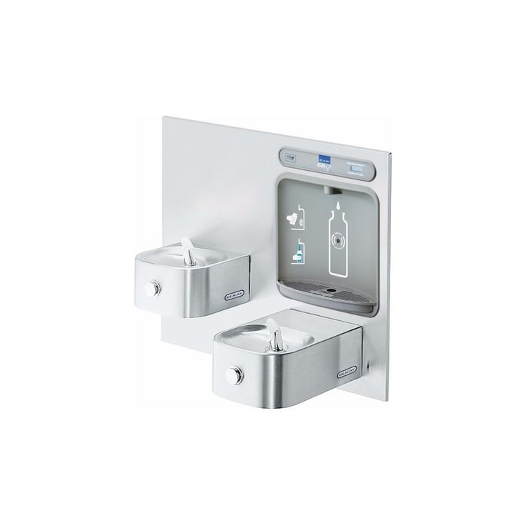 Elkay Ezws-EDFP217K EZH2O Bottle Filling Station & Integral Soft Sides Fountain, Non-Filtered Non-Refrigerated Stainless
