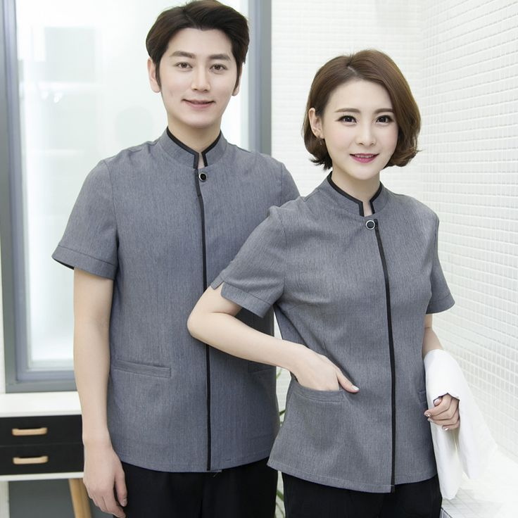 Cleaning Wear Short Sleeved Summer Female Cleaning Work Suit Property Hotel Room Attendant Female Clothing Hot Suit J199 #Affiliate