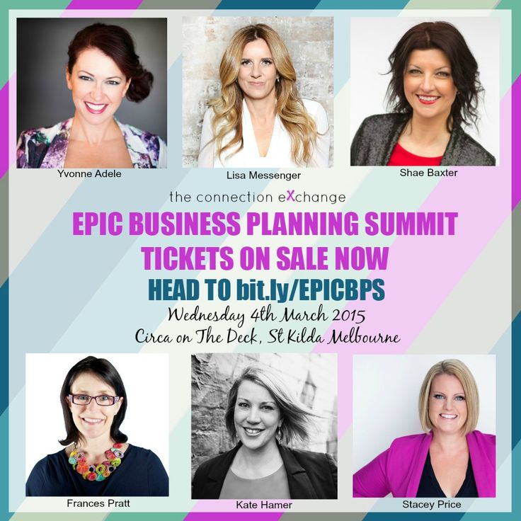 Join me, Lisa Messenger and a host of others for the:  EPIC BUSINESS PLANNING SUMMIT - YOUR KEY TO AN EPIC 2015  If you're a Business owner looking to connect and engage with other energised entrepreneurs  And if you're ready to create a plan for your business in 2015 and be surrounded by other amazing entrepreneurs, then this Summit is for you  Wednesday 4th March, 2015  Limited numbers of EARLY BIRD TICKETS are now available. http://bit.ly/EPICBPS