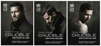 This is a series of posters used to advertise The Old Vic's production of The Crucible. The design is simple yet effective, and information is put across in an attractive way which makes it a good advertising strategy