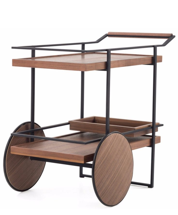 BAR CART Wooden drinks trolley by @stellar_works