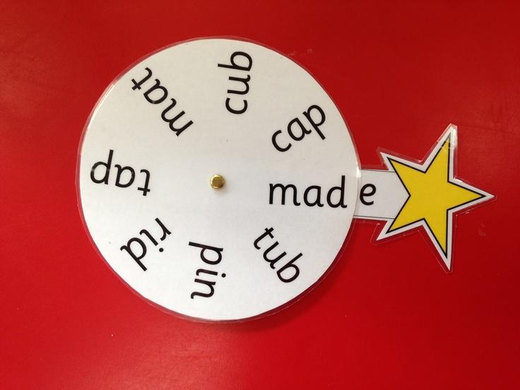 Magic e wheels, move the wand around to each word