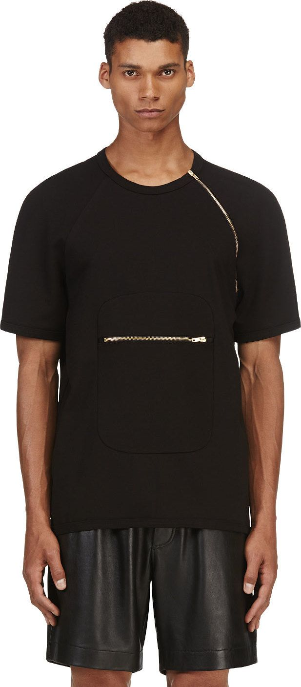 Black t shirt zips - Find This Pin And More On T Shirt Design Ideas