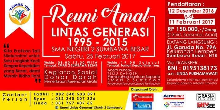 Alumni SMAN 2 Sumbawa Gelar Reuni Amal