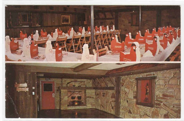 Finger's Restaurant Frontier Room Grand Rapids Michigan postcard