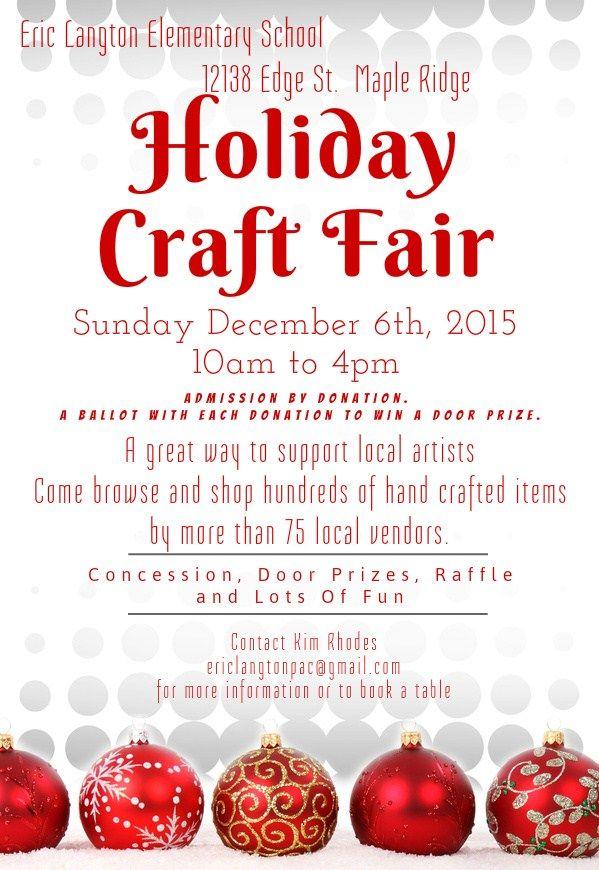 Eric Langton Craft Fair