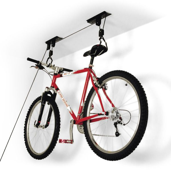 Take advantage of valuable unused ceiling space wtih our handy Ceiling-Mount Bike Lift. | $24.99