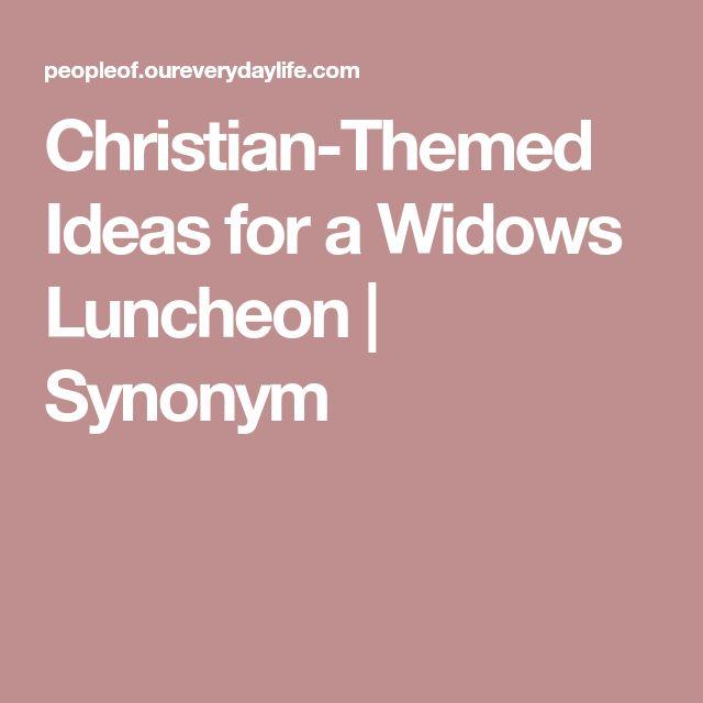 Christian-Themed Ideas for a Widows Luncheon | Synonym