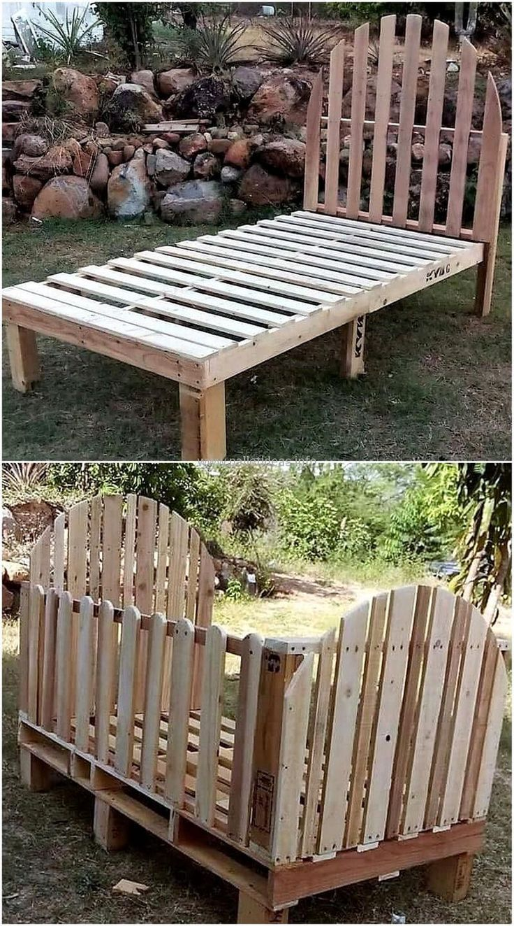 wooden pallets kids bed project