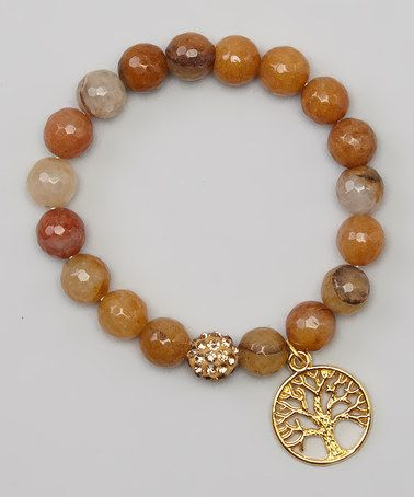 Love this Gold Sunstone Tree Of Life Bracelet by Jewelry by AMN on #zulily! #zulilyfinds