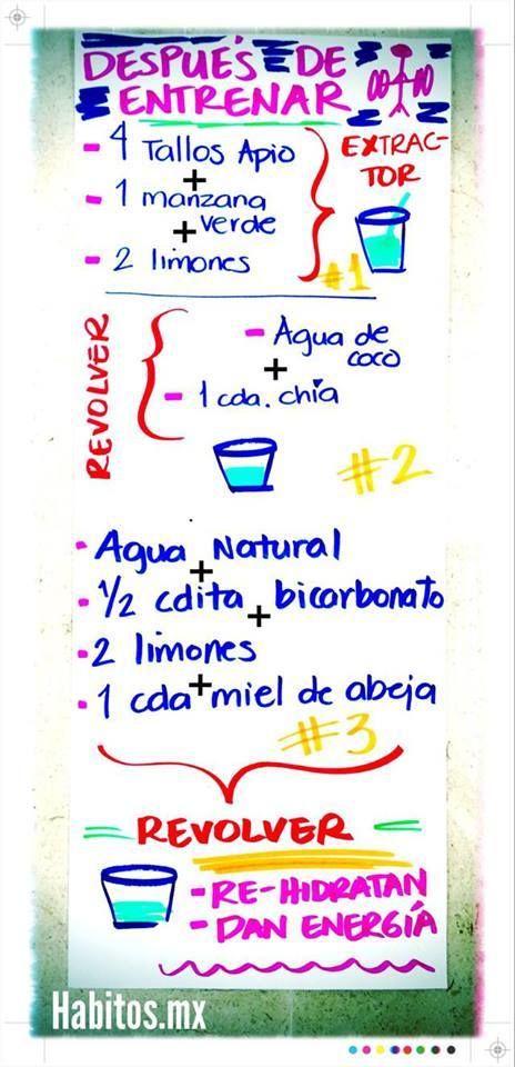 Después de entrenar… ¡A REPONERNOS NATURALMENTE!  #Nutrición y #Salud YG > nutricionysaludyg.com