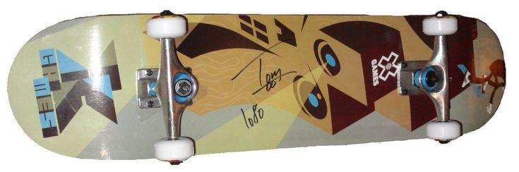 """Tom Schaar Autographed X-Games Logo Skateboard w/ Inscription, Proof Photo. This is a brand-new Tom Schaar signed Summer X-Games logo skateboard featuring """"1080"""" inscription! Tom signed the board in black sharpie. Check out the photo of Tom signing for us. ** Proof photo is included for free with purchase. Please click on images to enlarge. Please browse our websitefor additional X-Games, Extreme Sports & sports autographed collectibles. 1  Notable Career Work:   2-Time Summer X-Games…"""