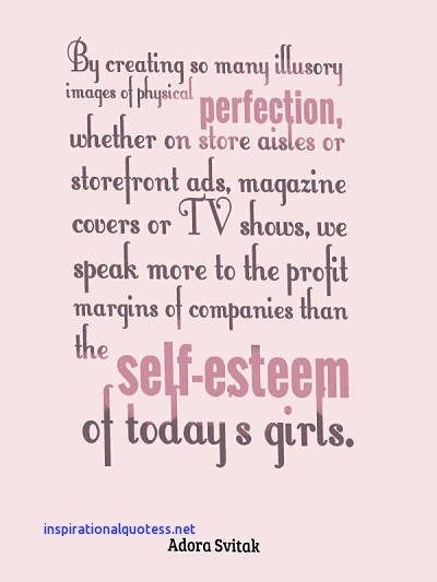 Inspirational Quotes For Teenage Girls About Self Esteem Quotes