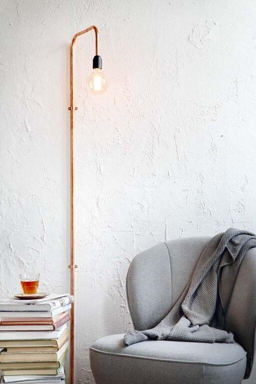Afbeeldingsresultaat voor koperen wandlamp