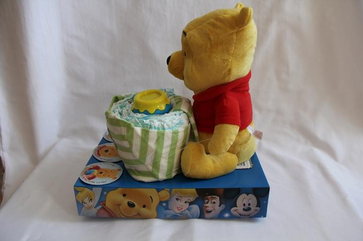 Winnie the Pooh Honey Pot Diaper Cake
