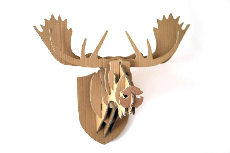 1000 images about cardboard and paper creations on pinterest - Cardboard moosehead ...