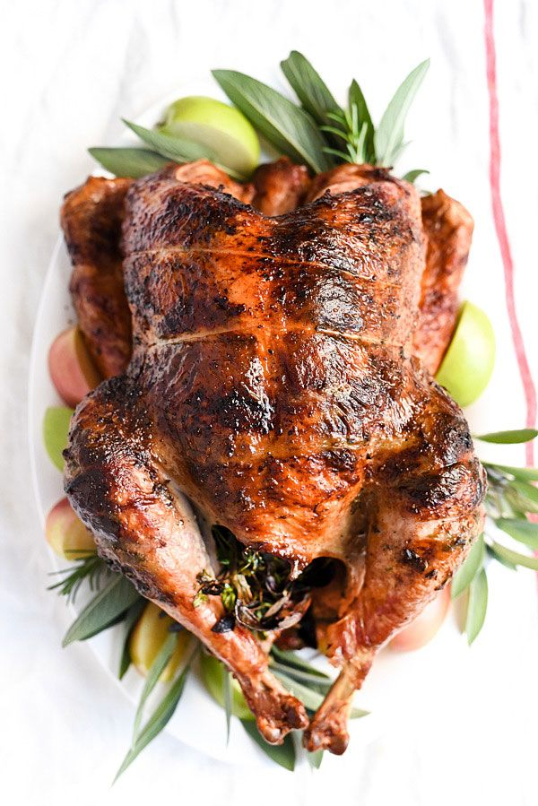 Herb Butter Rotisserie Turkey is so juicy I may never cook my turkey any other way | foodiecrush.com