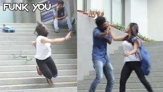 Girl Slaps a Guy for a Prank (Insect/Snake Prank)