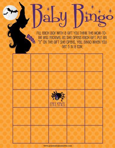 HALLOWEEN Baby shower Bingo games -  get them all at http://printmybabyshower.com #babyshower