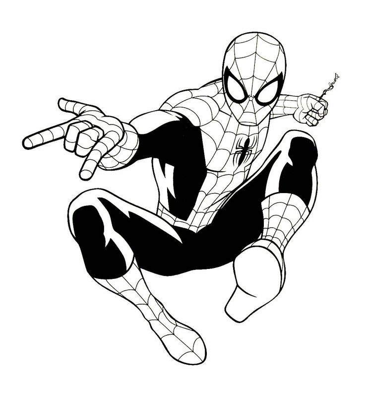 Spiderman Coloring Book Page