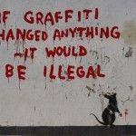 """Banksy """"Graffiti Rat"""" New Street Piece In Fitzrovia, London"""