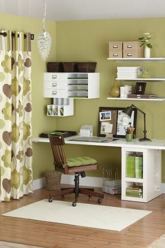 DIY: Organize Your Home Office | MORE Magazine --this would make a great craft/sewing room!
