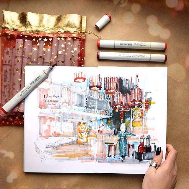 Sketch time) Нижегородцы, вероятно, узнали место на Покре) Незаконченность скетча меня подкупила)) листайте-немного процесса, люблю оставлять такие видео-заметочки тут) А Как там у вас начало года?) Скетчите/спите/активности? . #nnstories #sketch #sketchbook #newyear #2018 #copicmarkers #ds_sketchbook #nntoday
