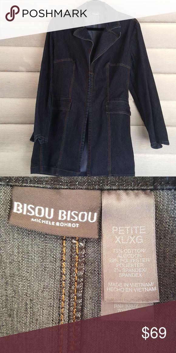 Bisou Bisou Denim Dress or Jacket - Dark Wash- Bisou Bisou Denim Dress or Jacket - Dark Wash-Sz Petite XL-Stretch Fabric-Versatile!! Bisou Bisou Dresses Midi