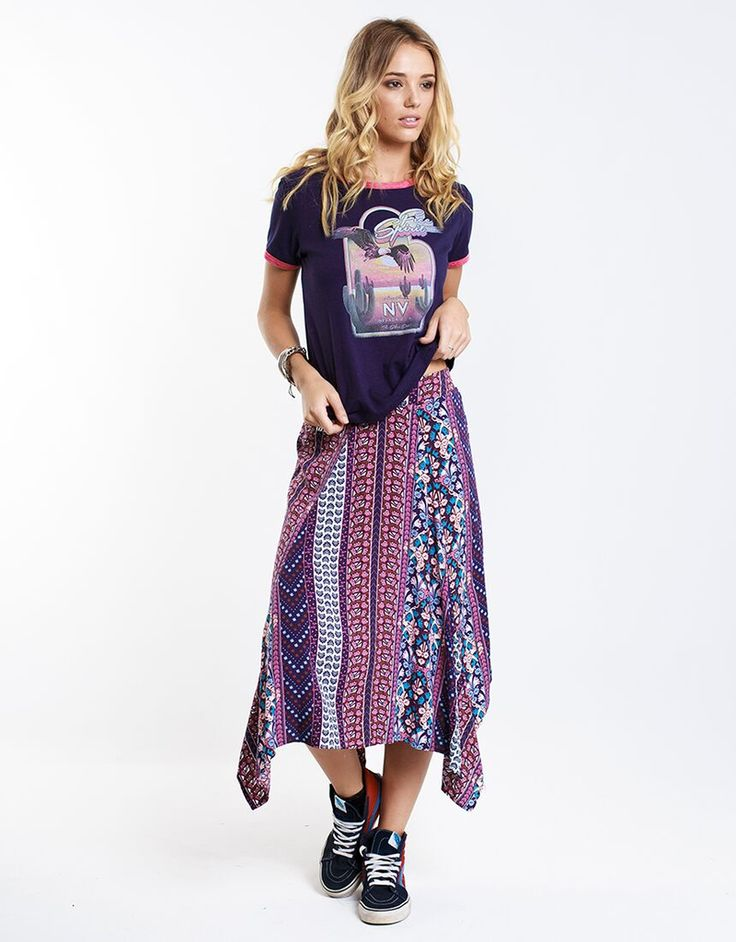 faithful skirt by all about eve available in multi / 8, multi / 6, multi / 10, multi / 12