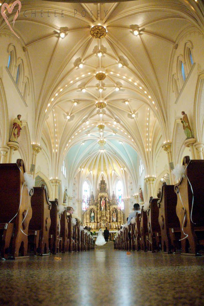 Beautiful St. Edward Catholic Church, Downtown Little Rock, Arkansas USA