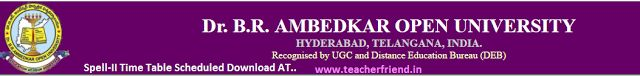 Ambedkar Open University (BRAOU - PG) PG Ist/IInd year M.A.(Economics, History, Political Science, Public Administration, Sociology, Mass C...