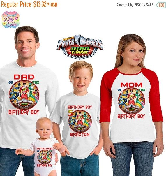 15% Off Power Rangers inspired family birthday theme