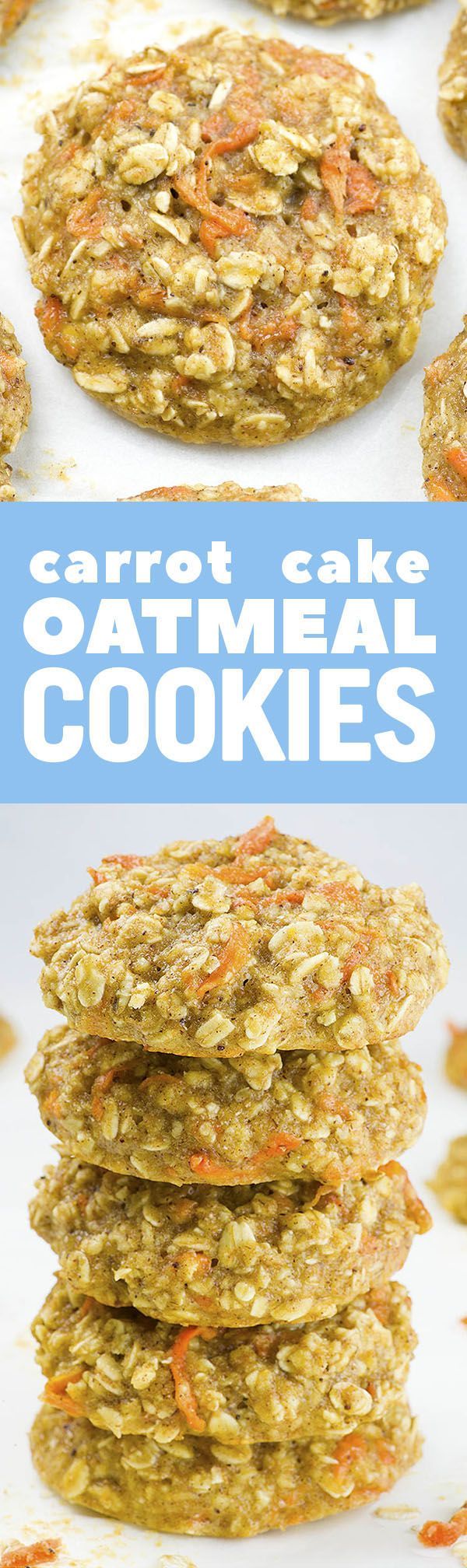 These skinny Carrot Cake Oatmeal Cookies are easy, yummy and healthy recipe that you must try it. It is perfect clean eating breakfast idea!