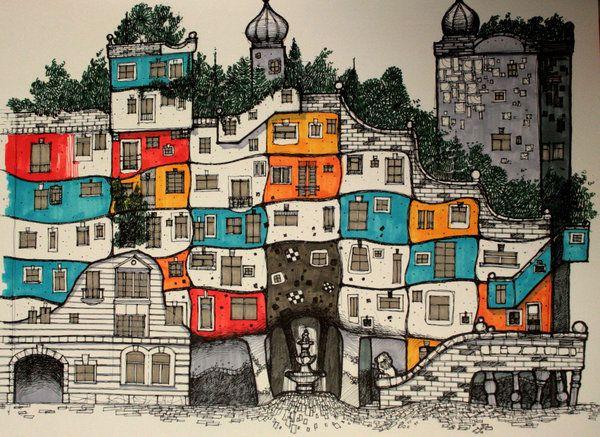 HundertwasserHaus Color by ~killabee on deviantART ...