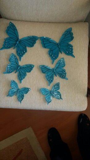 Seramik boyama  Kelebekler