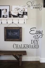 Restoration Hardware Inspired DIY Chalkboard