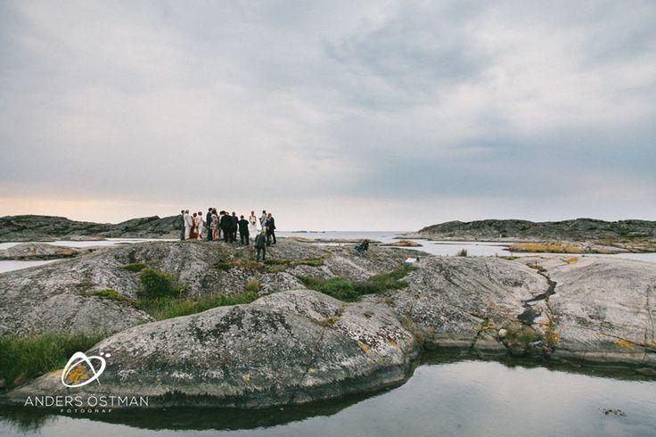 Utomhusbröllop på Tjörn - Fotograf Anders Östman