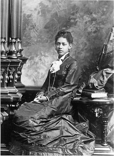 A beautiful young woman named Miss Guilmartin, Montreal, QC, 1877. Slaves escape to Canada