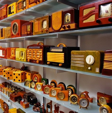 Collection of Catalin and Bakelite objects