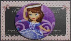 Botón Princesa Sofia Disney 5cm por Tejidosaloloco en Etsy