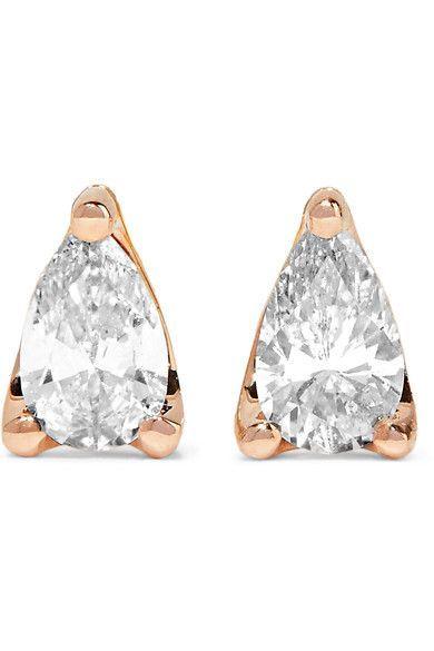 Anita Ko - 18-karat Rose Gold Diamond Earrings - one size